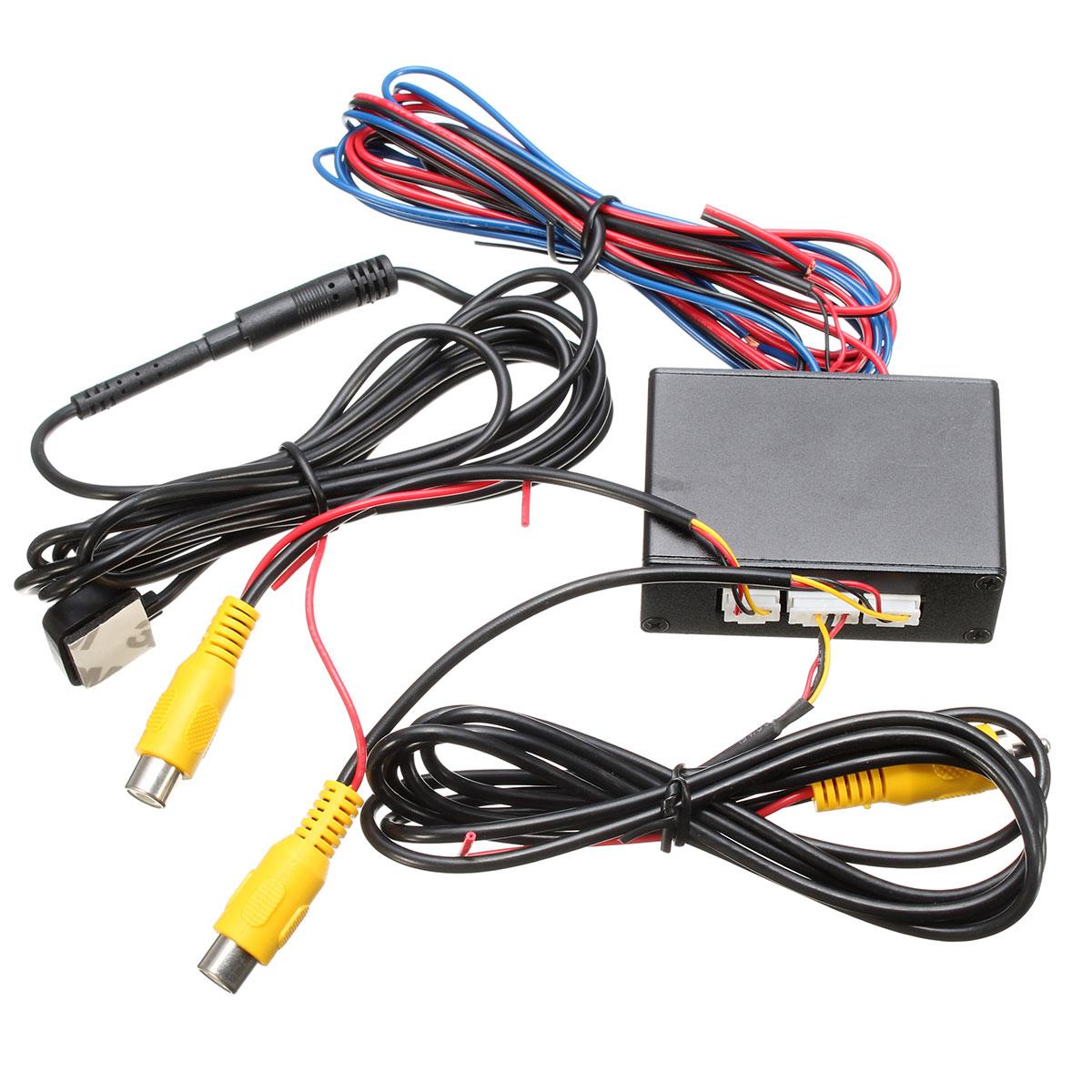 imágenes para Nueva cámara de vídeo del coche interruptor de control Inteligente (vídeo del coche del interruptor automático) conectar frontal o lateral/trasero cámaras