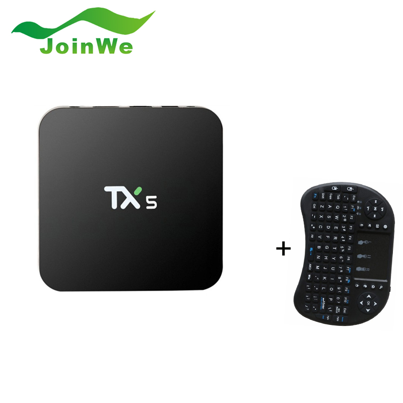 TX5 TV BOX Amlogic S905X Android 6.0 2G 8G HD 4K Fully KODI 16.1 Quad core Media Player m8 fully loaded xbmc amlogic s802 android tv box quad core 2g 8g mali450 4k 2 4g 5g dual wifi pre installed apk add ons