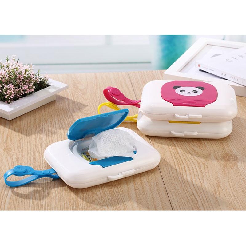 A Hunpta Baby Travel Wipe Case Child Wet Wipes Box Changing Dispenser Storage Holder