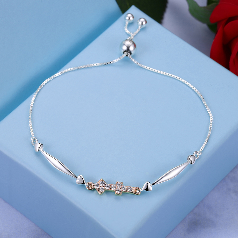 SHEON 925 Sterling Silver Luxury 12 Constellations Collection Bracelets Bangles For Women Sterling Silver Jewelry Birthday Gift in Chain Link Bracelets from Jewelry Accessories