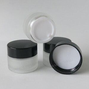 Image 3 - Frasco de maquillaje de 20x15 ml de vidrio esmerilado vacío con tapas negras doradas foca blanca 1/2oz contenedores de vidrio cosmético vacíos portátiles