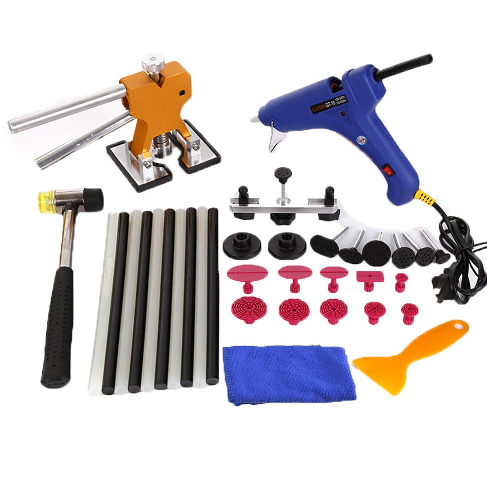 WHDZ SET GLUE PULLING DENT KIT GLUE- AUTO BODY PAINTLESS DENT REPAIRS PDR TOOLS dent pulling bits straight