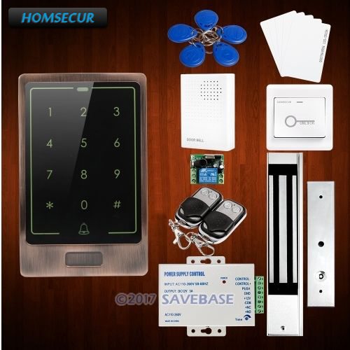 HOMSECUR Waterproof Wiegand 26 34 DIY 125Khz RFID Access Control System With Magnetic Lock Data Copy