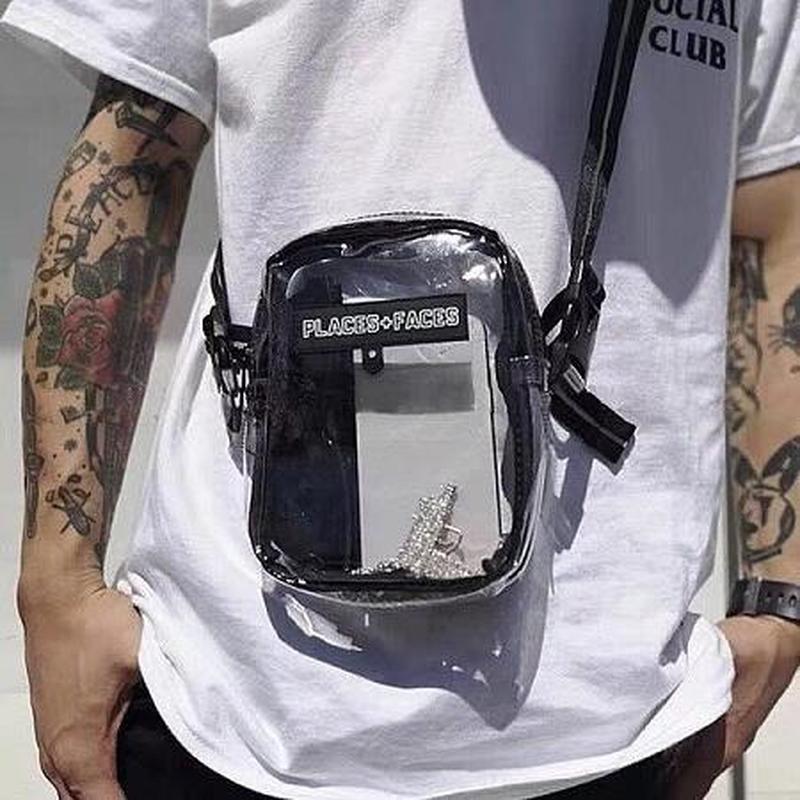 2019SS PLACES+FACES Bag High Quality Shoulder Waist Bag Waist Pack Kanye West Streetwear Hip Hop  P+F Bag Places+Faces Package