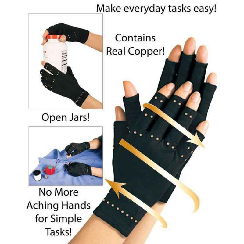 1pair Copper hand weights luva Arthritis Gloves Therapeutic arthritis compression gloves Circulation guantes gloves