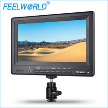 Feelworld 7″ 800×480 DSLR Camera Field Monitor HDMI with Peaking Focus Assist Hot Shoe Mount Power Adapter FW678-HD/O