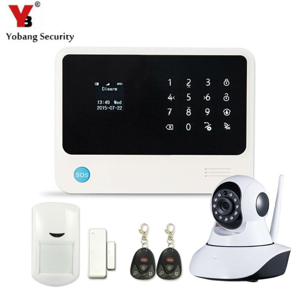 YobangSecurity WiFi Security System Door Gap Sensor GSM Alarm System Home Alarm Security wireless IP camera yobangsecurity touch keypad wireless wifi gsm home security burglar alarm system wireless siren wifi ip camera smoke detector