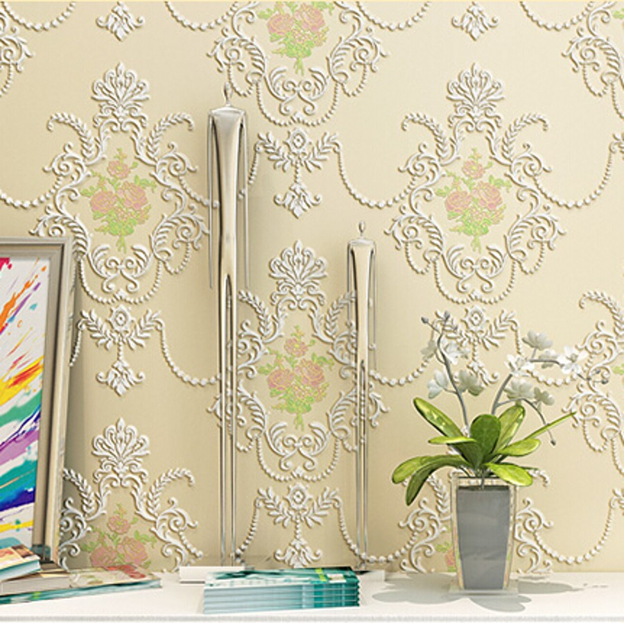 beibehang non woven Floral Wallpapers fashion vinyl walls wallpaper roll, Embossed TV background wall paper roll papel de parede