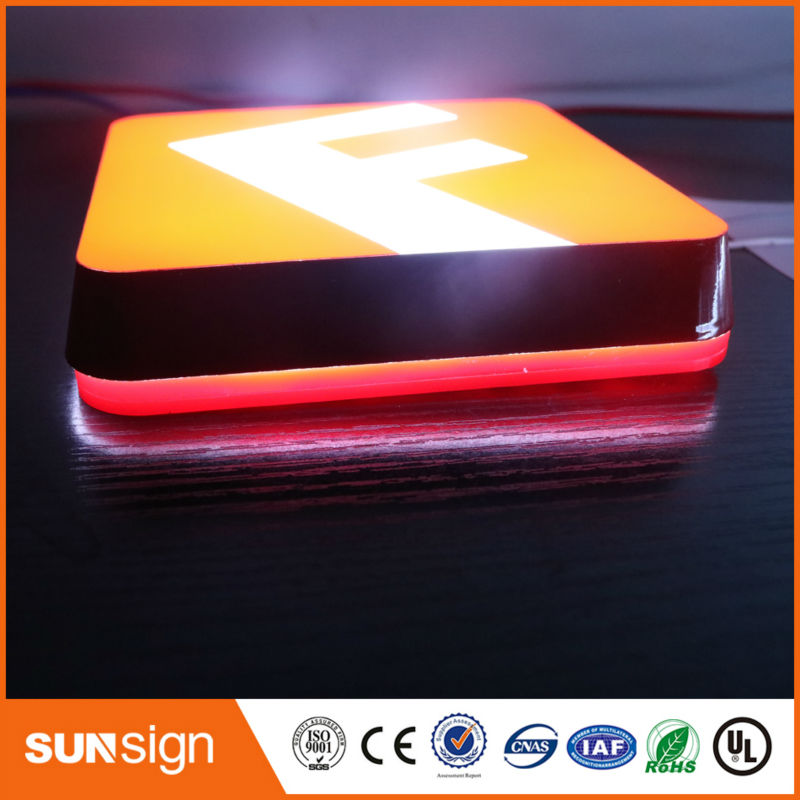 Factory Outlet Outdoor Super High Brightness Acrylic Front Lit Led Channel Letters
