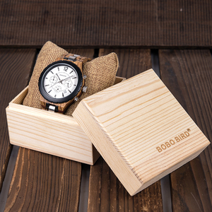 Image 5 - BOBO BIRD Wood Watch Men Business Watches Stop Watch Chronograph With Wood Stainless Steel Strap relogio masculino V R22