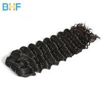BHF Deep Wave Indian Hair 1 PC Deals Human Hair Bundles Natural Color Raw Indian Virgin Curly Hair Extensions Can Buy 3 Or 4 Pcs