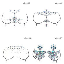 Новинка 18,5*13 см Кристальные наклейки на соски для женщин, бюстгальтер, грудь, Стикини клейкие наклейки, краска для тела, аксессуары