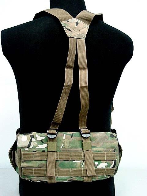 Prix pour Airsoft Tactique Molle Sport Combat Taille Ceinture Rembourrée Avec H en forme de Bretelle Bandoulière Réglable En Nylon Cummerbunds BK