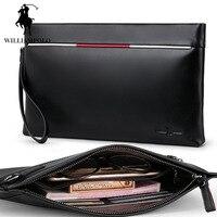 Italian Genuine Leather Designer Wallet For Men Multi Function Men Handbags Zipper Business Passport Bag Men