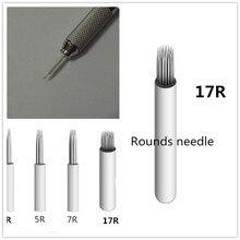 50 Pcs 17R Needles For Manual Pen Semi Permanent Makeup Manual Fog Pen Needle Microblading Eyebrow Pen Needles