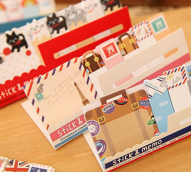 30pcs/lot Retro London & Paris & animals sticky notes Travel memo pad Post stickers Stationery office School supplies