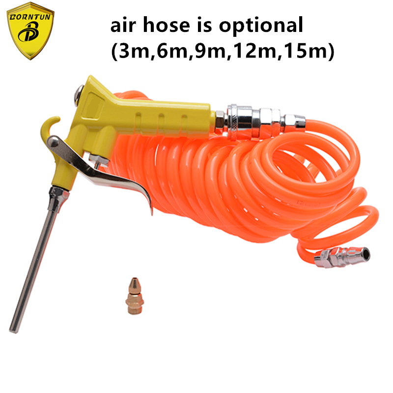 Borntun Pneumatic Air Dust Blower Device Blowing Guns Accessory Plastic Dust Removing Remover Machine with PU Spring Hoses Tubes handheld air blower 16000rpm dust cleaning air blowing gun
