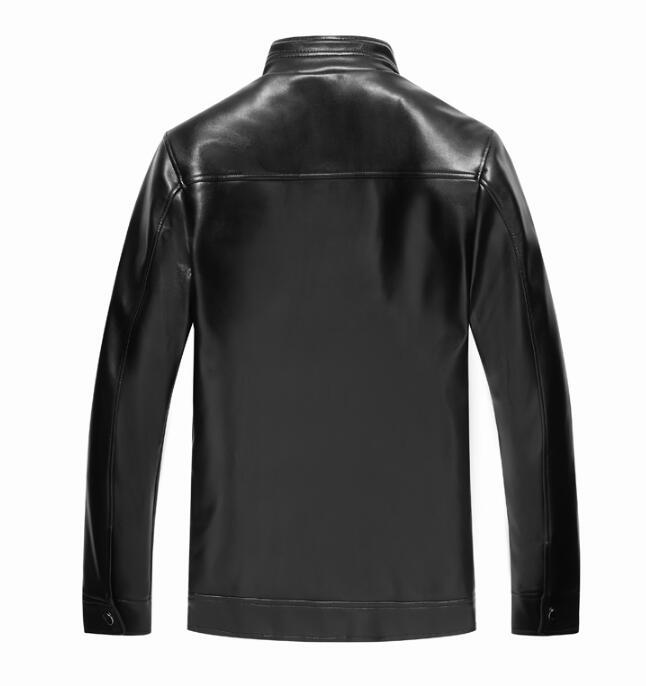 En Masculino Automne De Moto marron Hommes Velours Couro Plus Veste Col Cuir Le Jaqueta Noir Épaississement Montant 2019 Occasionnel Hiver Busines 7qUawd74
