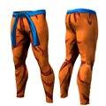 Verão 2016 Nova Mens Dragon Ball Z calças de compressão calças musculação skinny leggings calças