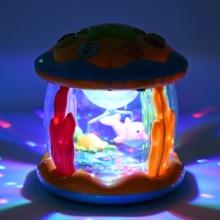 Случайный цвет детская игрушка музыкальная карусель барабанный центр активности с огнями музыка раннее музыкальное образование игрушки для детей