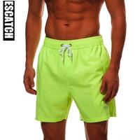 Four Way Stretch Fabric Summer Board Shorts Mens Swimming Trunks Surf Swimwear Beach Short Swimsuit Running