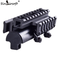 Sinairsoft UTG New Gen SKS Tri Rail Tactical See Thru Receiver Cover Scope Mount MNT T640TR