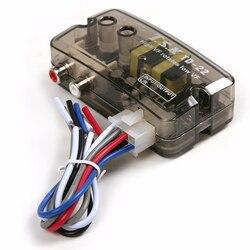 Głośnik do linii RCA z opóźnieniem czarny wysoki do niskiej częstotliwości 12V Adapter konwertera poziomu samochodu regulowana linia częstotliwości