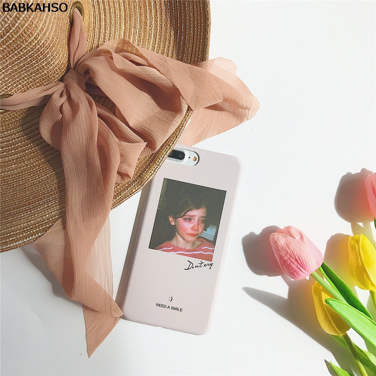 BABKAHSO Ins тренд dont cry девушка чехол для iPhone 7 Plus модная для iPhone 6 6 S плюс 6 Plus Капа Fundas Coque жесткий ...