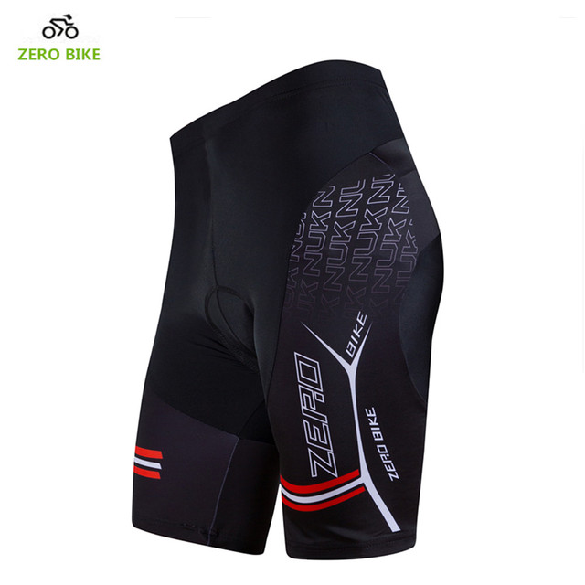 ZERO BIKE Hot Sale Men's Quick Dry Cycling Shorts Mountain Bike Bicycle 3D GEL Padded Tight shorts Black M-XXL