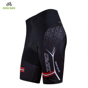 Image 2 - ZERO จักรยาน HOT SALE Mens Quick DRY กางเกงขาสั้นจักรยานเสือภูเขาจักรยาน 3D เจลเบาะกางเกงขาสั้นสีดำ M XXL