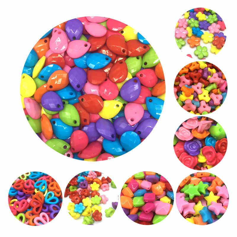New Cheap Colorful Many Style Geometry Shape Acrylic Beads Fit For DIY Bracelet Jewelry Making Wholesale Random Send Goods