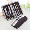 HY 7 PCS/Set New Stainless Steel Nail Tips Clipper Trimmer Manicure Nail Art Toes Care Cuticle Clippers Cutter Tools