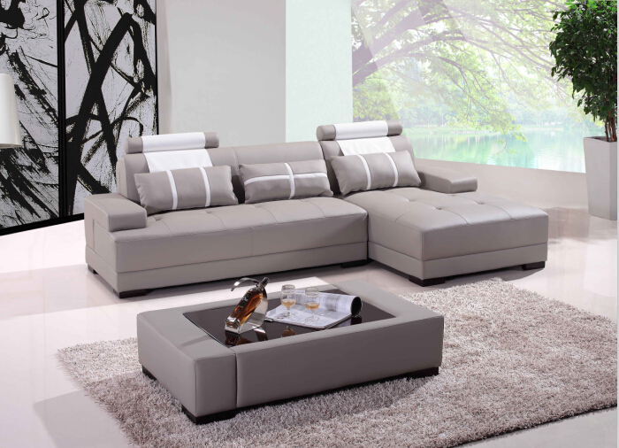 Modern Corner Sofas For Leather With Design Sofa L Shape Included Coffe Table In Living Room From Furniture On