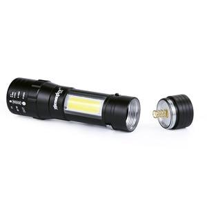 Image 4 - מיני פנס Zoomable LED לפיד XPE Q5 לפיד אור COB LED מיני פנס 14500/AA 4 מצבי כיס לפיד פנס