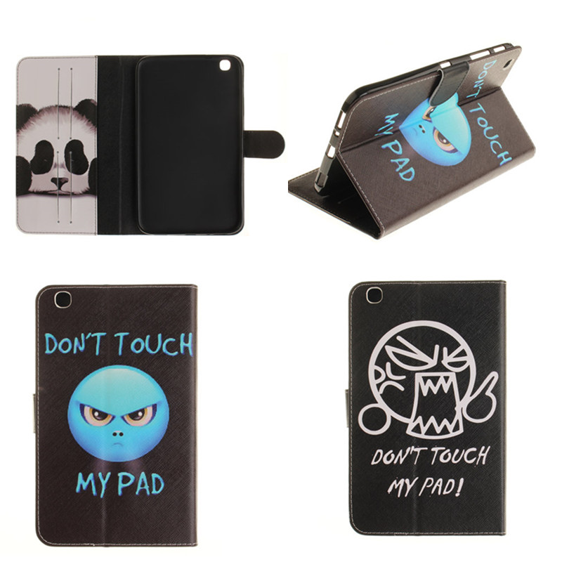 TX cute Painting Tablet Case For Samsung Galaxy Tab 3 8.0 T310 T311 T315 SM-T311 PU Leather Stand Case Cover with Card Slot ctrinews stand leather case for samsung galaxy tab 3 8 0 t310 t311 flip tablet cases cover bag