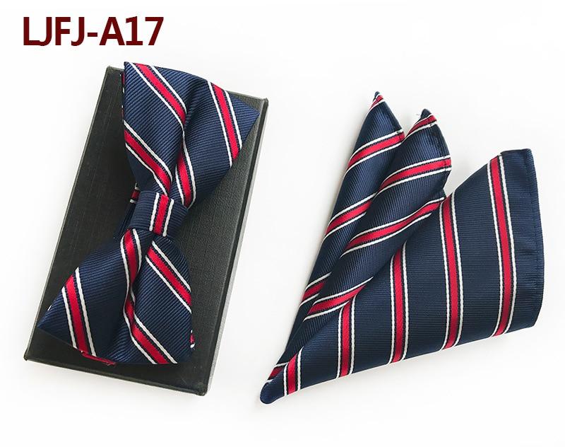 100% Wahr Mens Fashion Krawatte Set Polyester Silk Krawatten Sets Roten Streifen Zweiteilige Krawatten Für Männer Krawatte Einstecktuch Einstecktuch Fliege Volumen Groß