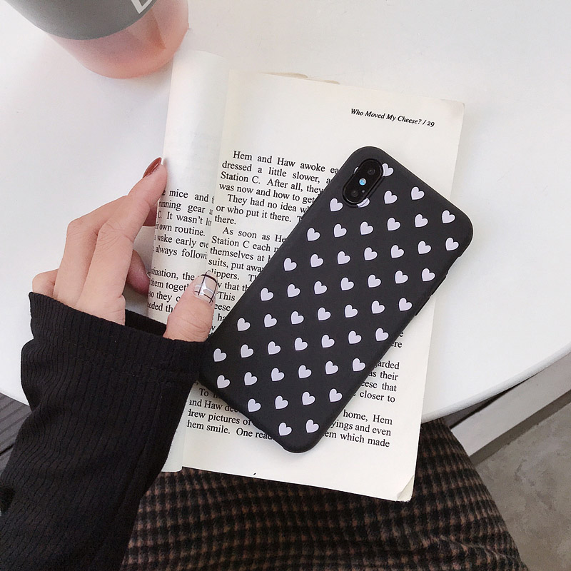 Luxury Love Heart Case For Xiaomi Redmi Note 3 4 4X 5 5A 6 7 8 Pro 3S 4A 4X 6 6A S2 Plus 7A Case Candy Color Silicone Cover