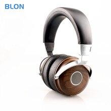Blon B7 Hi Fi Stereo Hoofdtelefoon Open Dynamic Houten Monitor Hoofdtelefoon W/Berylliumlegering Driver Dj Metalen Headset Audio oortelefoon