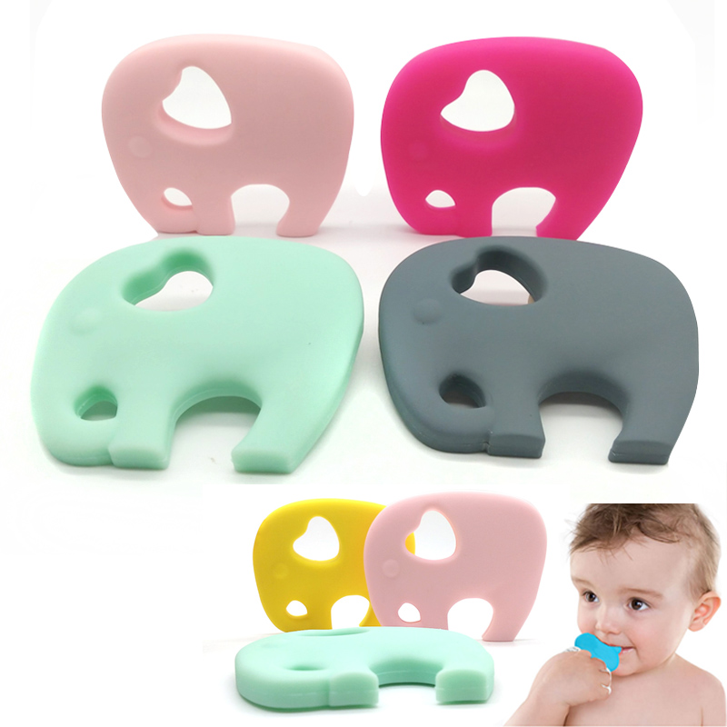 Elephant Silicone Teether baby Teething Toy beads DIY chew Necklace Nursing Tool Pendant Food Grade Silicone BPA Free elephant animal series many chew toy