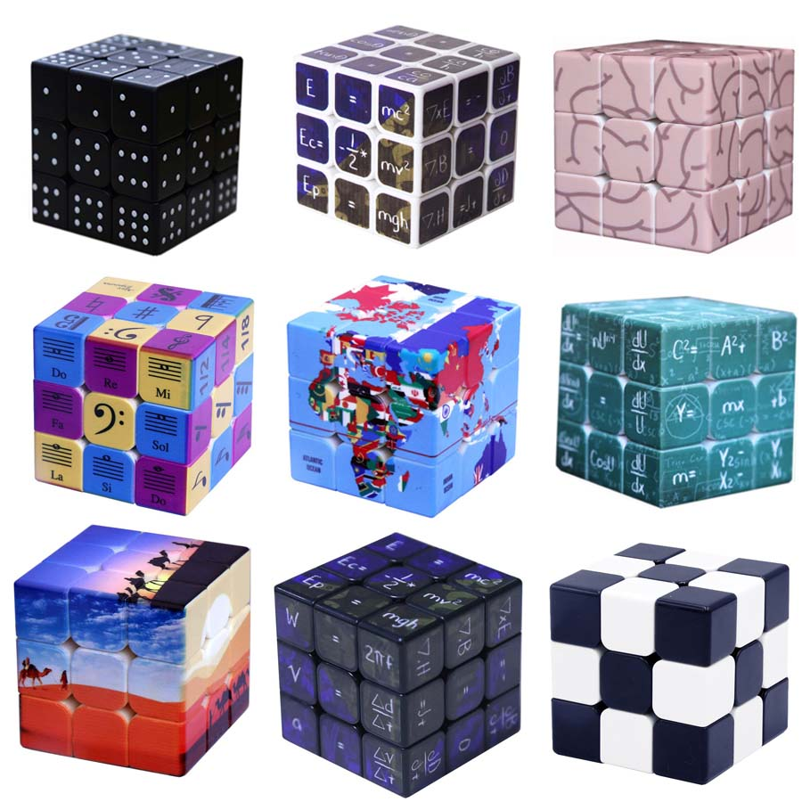 Magic Cube 3x3x3 Professional Embossed Braille Speed Cube Puzzle Neo Cubo Magico  Educational Toys For Children Gift Ideas
