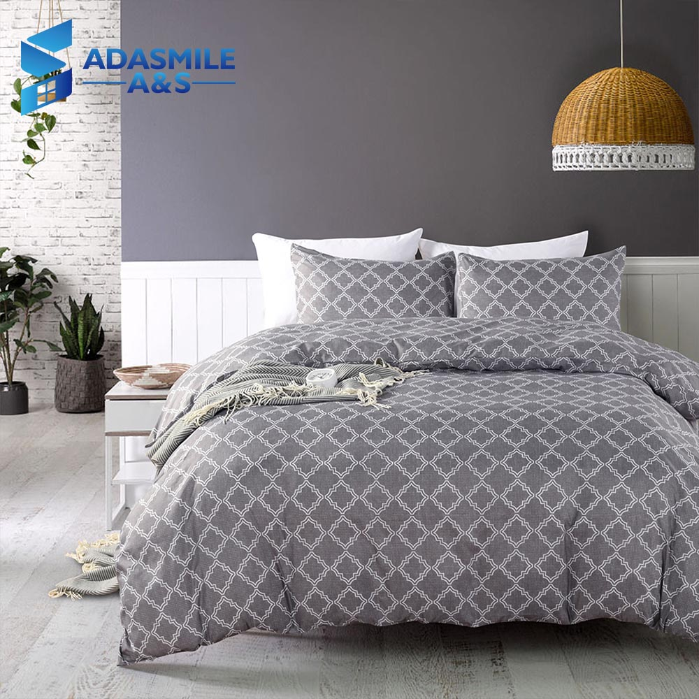 Nordic Style Simple Bedding Set Grid Solid Comfortable Bed Linens Home Textile US Twin Queen Duvet Cover Set for Adults Bed Nordic Style Simple Bedding Set Grid Solid Comfortable Bed Linens Home Textile US Twin Queen Duvet Cover Set for Adults Bed