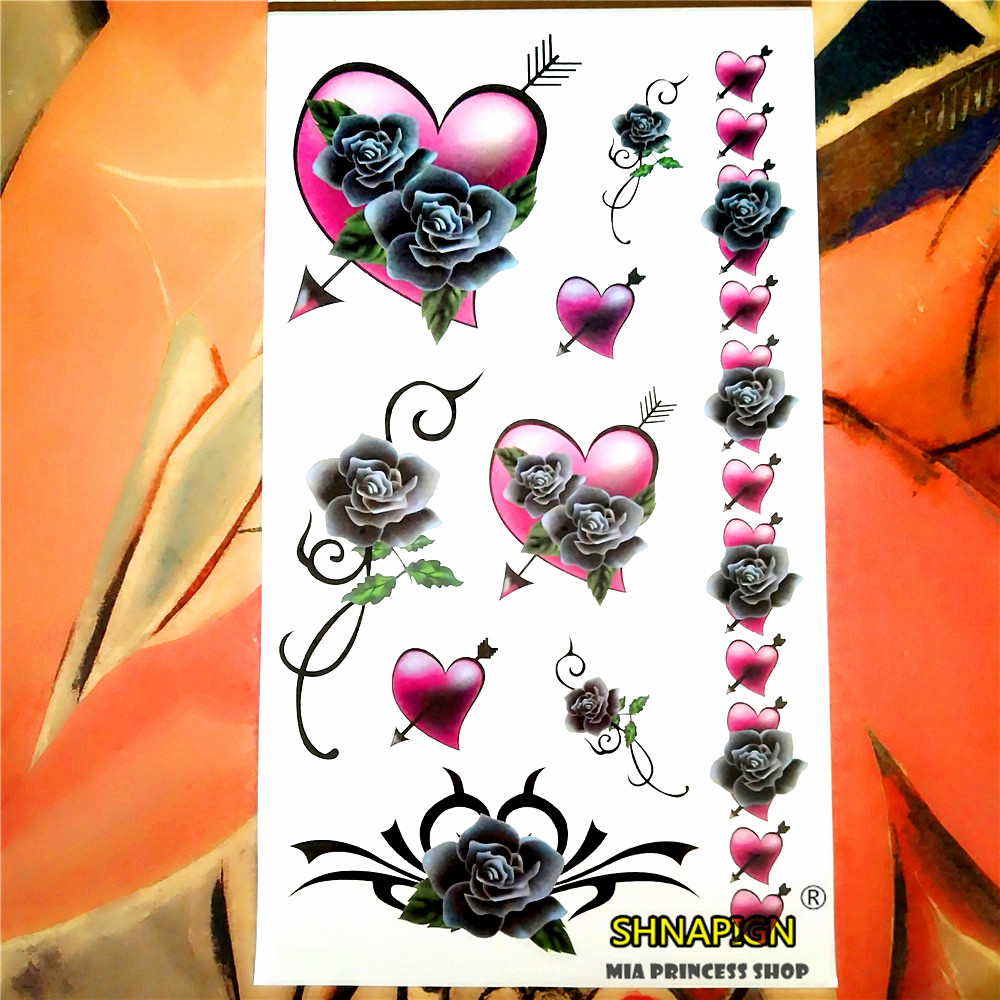 Popular heart tattoo arm buy cheap heart tattoo arm lots for Painless permanent tattoos