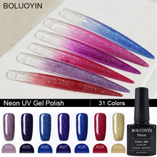 8ML Neon UV Nail Gel Polish smalto semi permanente unghie Led Art Rainbow Glitter