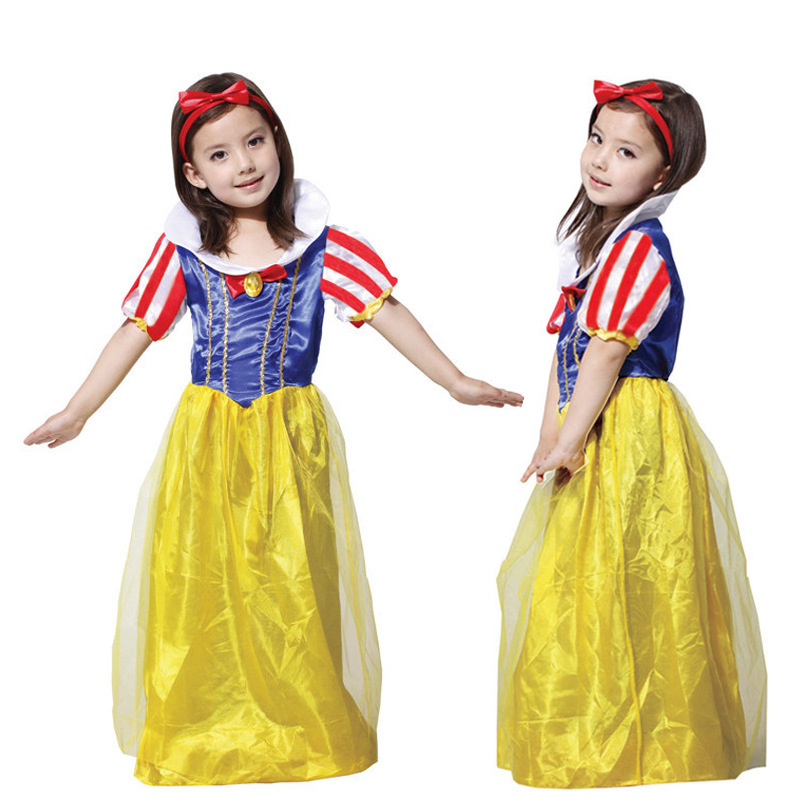 Halloween Party Cosplay Costume Snow White Dress Performance Clothes For Girls M L XL devil may cry 4 dante cosplay wig halloween party cosplay wigs free shipping