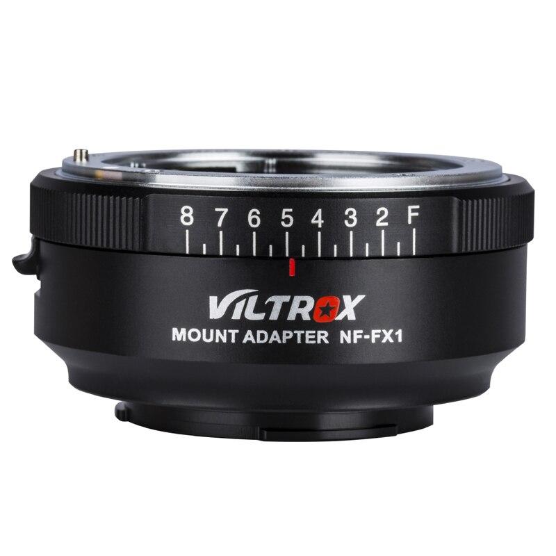 VILTROX NF-FX1 Camera Lens Adapter Ring Pour Nikon G & D-monture FUJI X-montage Manuel -Focus 1/4 Vis F-8 Ouverture Réglable