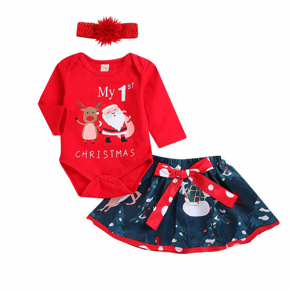 9726fb0addc6 Detail Feedback Questions about ARLONEET Newborn Infant Baby Girl Christmas  Letter Romper Tops Deer Tutu Skirt Outfit Set L1109 on Aliexpress.com