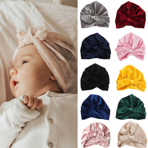 Winter Cap Fashion Newborn Toddler Kids Baby Boy Girl Turban Velvet Beanie Hat