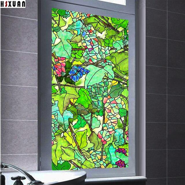 amovible teinte film de protection fen tre 40x100 cm pvc raisin 3d d poli salle de bains d cor. Black Bedroom Furniture Sets. Home Design Ideas