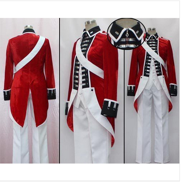 Hetalia Axis Powers United Kingdom Revolution Cosplay costuem