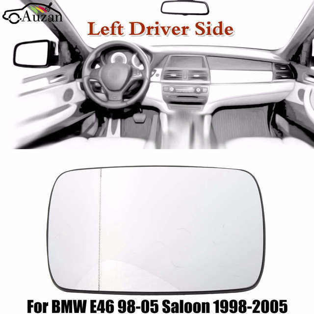 New Heated Mirror Left Driver Side Door Glass Plate For BMW E46 98-05 Saloon  sc 1 st  AliExpress.com & New Heated Mirror Left Driver Side Door Glass Plate For BMW E46 98 ...